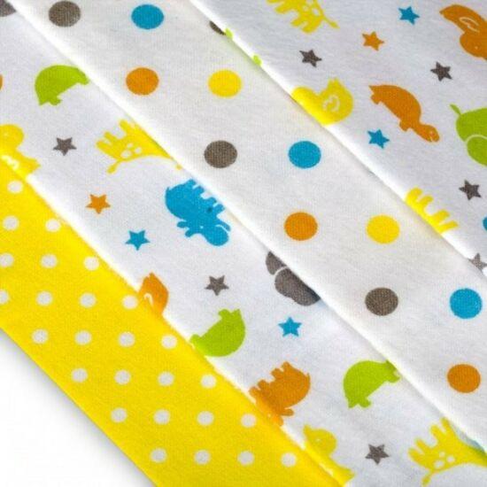4db-os textilpelenka válogatás sárga szafari