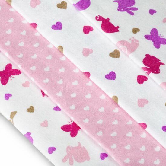 4db-os textilpelenka válogatás rózsaszín csigás-pillangós