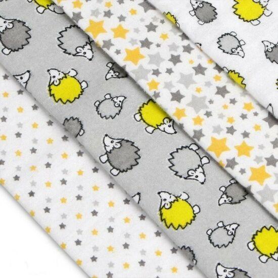 4db-os textilpelenka válogatás szürke süni