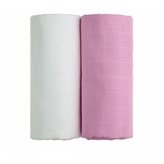 Tetra fürdőlepedő, kifogó PRÉMIUM CSEH MINŐSÉG - Fehér-rózsaszín 2db