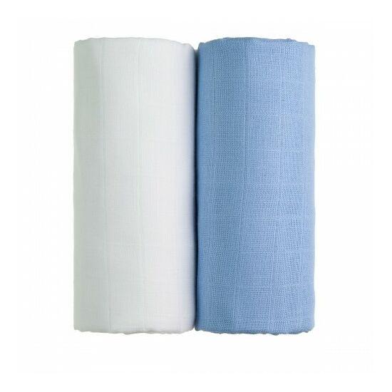 Tetra fürdőlepedő, kifogó PRÉMIUM CSEH MINŐSÉG - Fehér-kék 2db