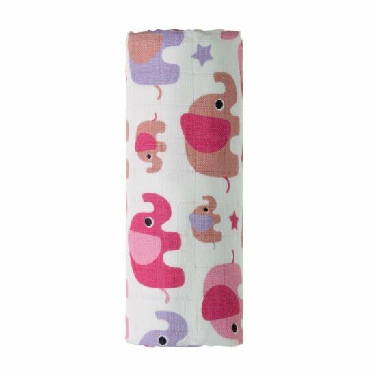 Bambusz fürdőlepedő, kifogó PRÉMIUM CSEH MINŐSÉG - Pink elefántos