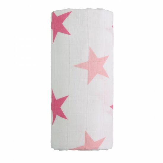 Tetra fürdőlepedő, kifogó PRÉMIUM CSEH MINŐSÉG - Rózsaszín csillagos